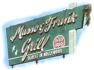Musso and Frank Grill Hollywood Blvd