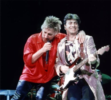 Rod Stewart and Todd Sharp