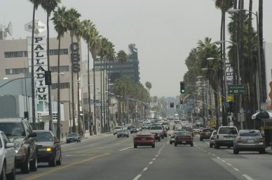 Sunset Blvd near Gower