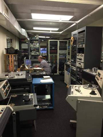 John Davis-at work in his studio-the best tape man in the world-seriously-no one knows more about tape than John Davis
