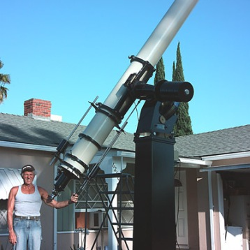 John Ponds telescope he built by himself